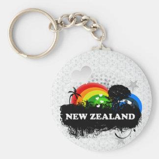 Nueva Zelanda con sabor a fruta lindo Llavero Redondo Tipo Pin