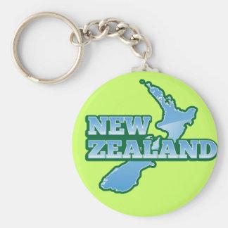 NUEVA ZELANDA con un mapa Llavero Redondo Tipo Pin