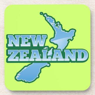 NUEVA ZELANDA con un mapa Posavasos De Bebida