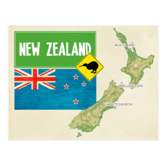 ♥ Nueva Zelanda de las POSTALES del MAPA