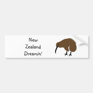 Nueva Zelanda Dreamin Etiqueta De Parachoque