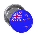 Nueva Zelanda en azul Pin