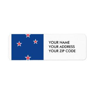 Nueva Zelanda Etiqueta De Remite