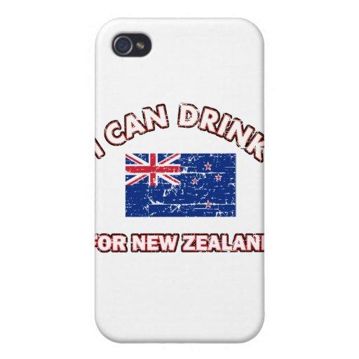 Nueva Zelanda fresco que bebe diseños iPhone 4 Protector