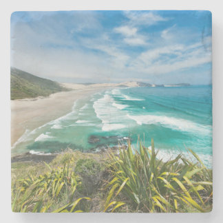 Nueva Zelanda, isla del norte, cabo Reinga 2 Posavasos De Piedra
