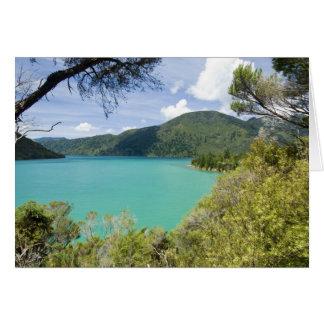 Nueva Zelanda, isla del sur, sonidos de Marlboroug Tarjeta
