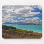 Nueva Zelanda: Lago Pukaki Alfombrilla De Ratón