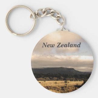 Nueva Zelanda Llavero Redondo Tipo Pin