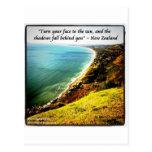 Nueva Zelanda magnífico y proverbio famoso Tarjeta Postal