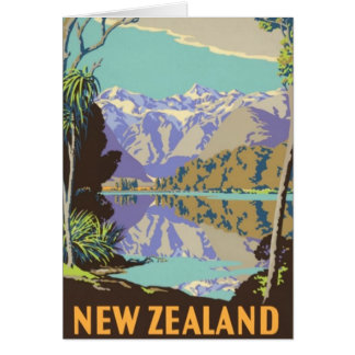 Nueva Zelanda Mountian Tarjeta De Felicitación