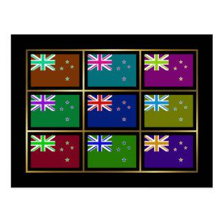Nueva Zelanda Multihue señala la postal por medio
