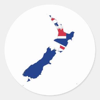 Nueva Zelanda NZ Pegatina Redonda