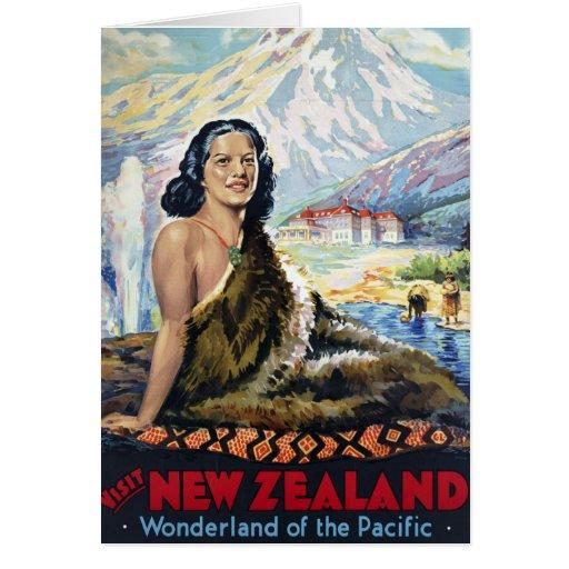 Nueva Zelanda: País de las maravillas del Pacífico Tarjeta De Felicitación
