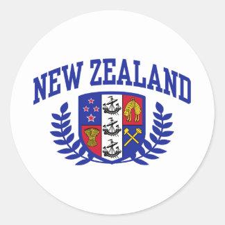 Nueva Zelanda Pegatina Redonda