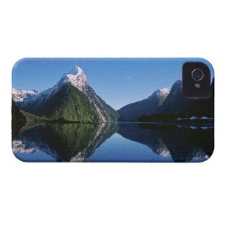 Nueva Zelanda, pico del inglete, Milford Sound, iPhone 4 Case-Mate Protectores