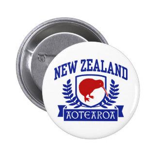 Nueva Zelanda Pin Redondo De 2 Pulgadas