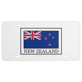 Nueva Zelanda Placa De Matrícula