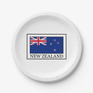 Nueva Zelanda Plato De Papel De 7 Pulgadas