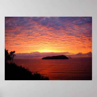 Nueva Zelanda - posters de la salida del sol