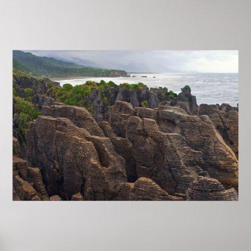 Nueva Zelanda: Rocas de la crepe Impresiones