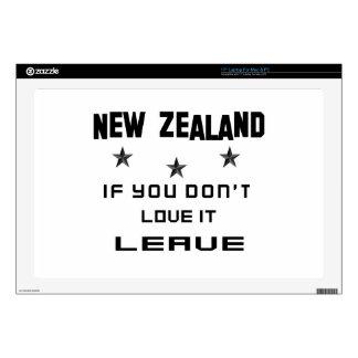 Nueva Zelanda si usted no lo ama, se va Portátil Skins