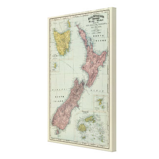 Nueva Zelanda, Tasmania, Fiji Impresión En Lienzo