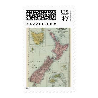 Nueva Zelanda, Tasmania, Fiji Sello Postal