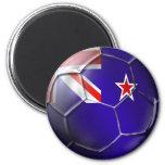 Nueva Zelanda toda la bola de la bandera del kiwi  Imán De Frigorífico