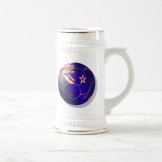 Nueva Zelanda toda la bola de la bandera del kiwi Jarra De Cerveza