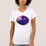 Nueva Zelanda toda la bola de la bandera del kiwi  Camisetas