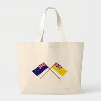 Nueva Zelanda y banderas cruzadas Niue Bolsas