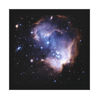 Nuevamente formación de las estrellas impresión en lienzo estirada