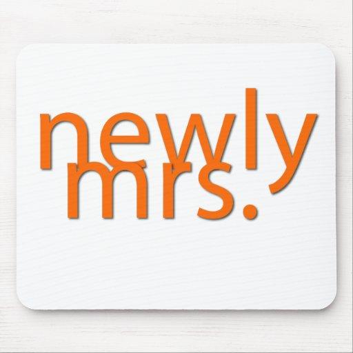 nuevamente señora-naranja alfombrilla de ratón