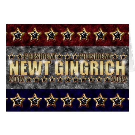 Nuevas barras y estrellas de Gingrich Tarjeta De Felicitación