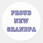 Nuevas camisetas orgullosas del texto de la pegatina redonda