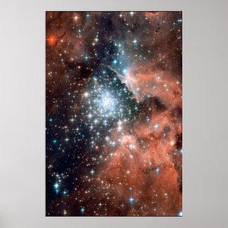 Nuevas estrellas en NGC 3603 20x30 (20x30) Póster