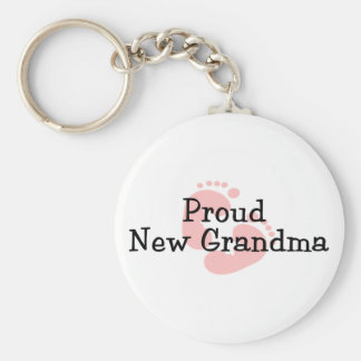 Nuevas huellas orgullosas de la niña de la abuela llavero
