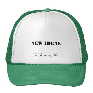 Nuevas ideas, seis gorras de pensamiento