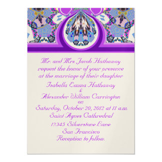 Nuevas invitaciones de encargo del boda de la invitación 13,9 x 19,0 cm