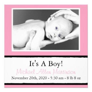 Nuevas invitaciones ventosas de la foto del bebé comunicados personales