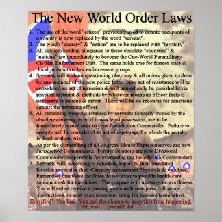 Nuevas leyes del orden mundial poster