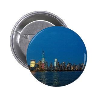 Nuevas luces de la noche de New York City los E.E. Pin Redondo 5 Cm