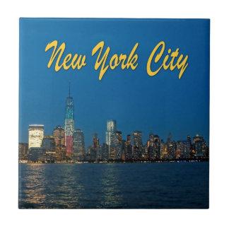 Nuevas luces de New York City Azulejos Cerámicos