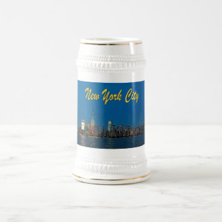 Nuevas luces de New York City Jarra De Cerveza