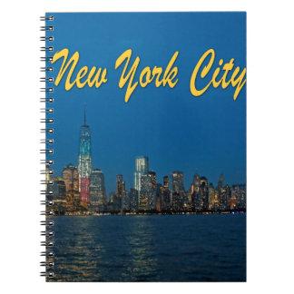 Nuevas luces de New York City Libros De Apuntes Con Espiral