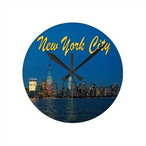 Nuevas luces de New York City Reloj