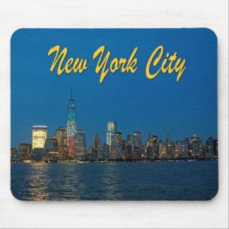 Nuevas luces de New York City Tapetes De Ratón