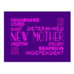 Nuevas madres y nuevas fiestas de bienvenida al be postales