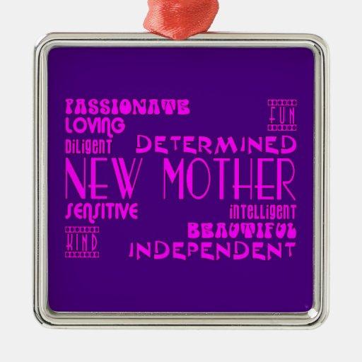 Nuevas madres y nuevas fiestas de bienvenida al ornaments para arbol de navidad
