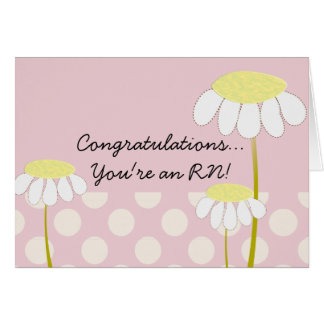 Nuevas margaritas de la enhorabuena de la enfermer tarjeta de felicitación